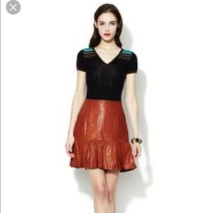 Nanette Lepore NWOT Catch me leather skirt sz 8